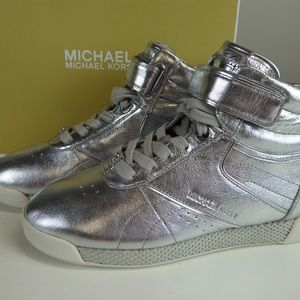 Michael Kors Metallic Leather Addie High Top Shoes